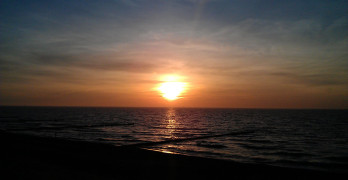 Urlaub im Dachgeschoss mit Blick auf den Sonnenuntergang