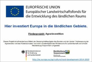 Gefördert mit EU Agrarinvestitionen